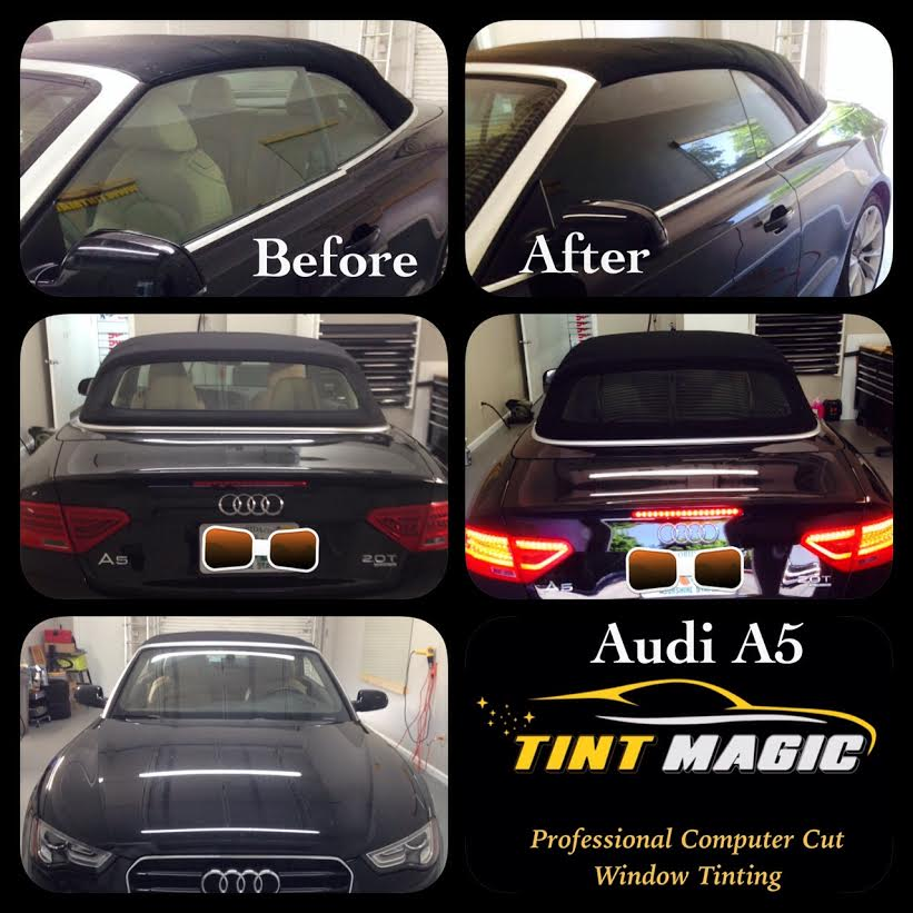 Audi A5 Convertible Window Tinting-Tint Magic Window Tint Coral Springs