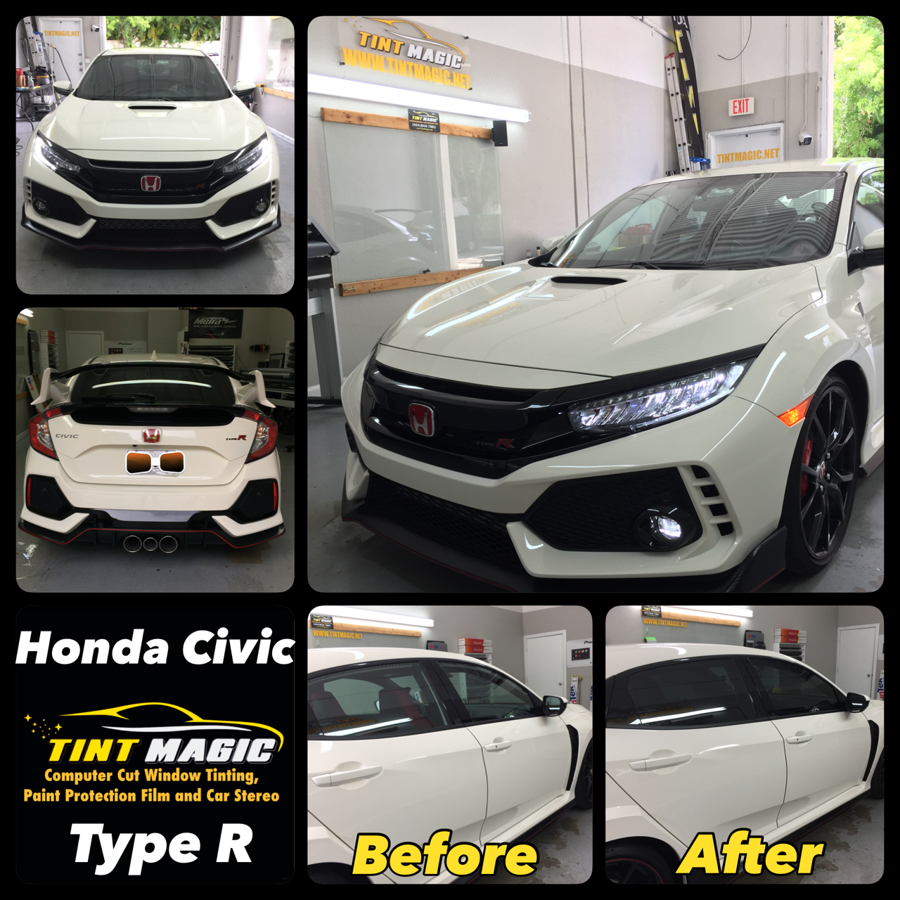 Honda Civic Type R at Tint Magic Window Tinting Coral Springs