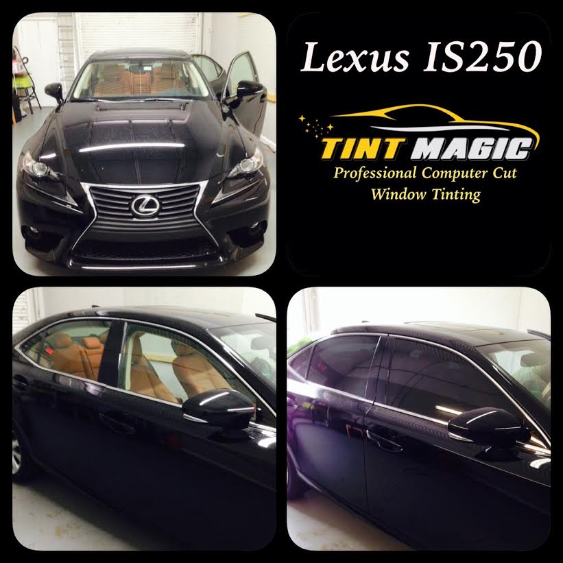 Lexus IS250 window tinting at Tint Magic Window Tint Coral Springs