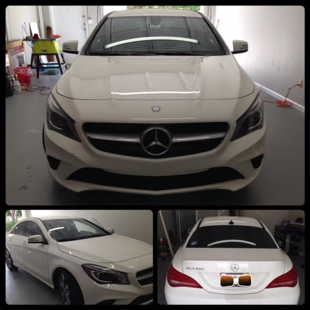 Mercedes Benz CLA Window Tinting at Tint Magic Window Tint Coral Springs