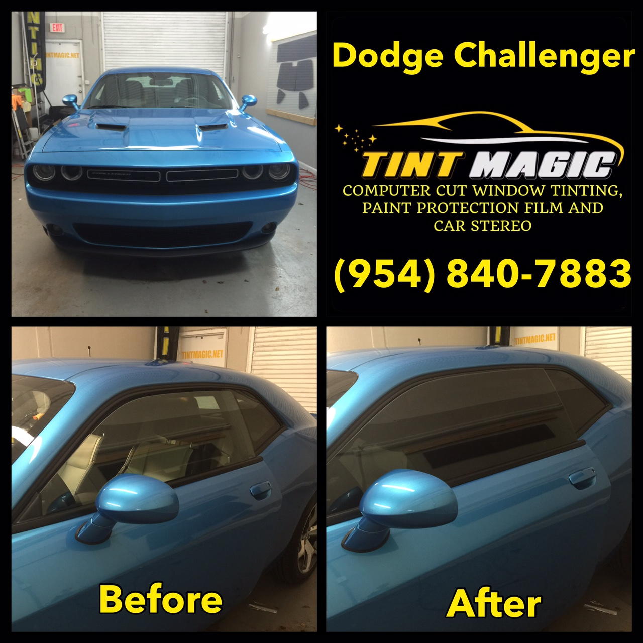 Dodge Challenger at Tint Magic Window Tinting