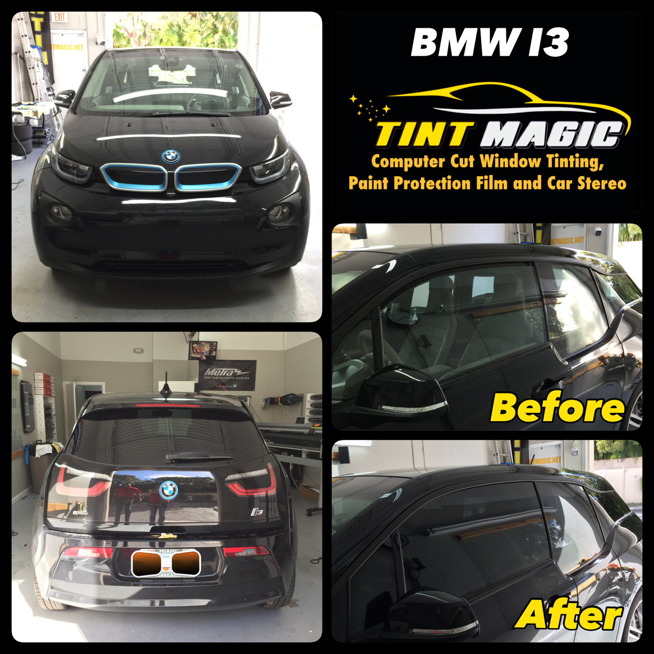 BMW I3 at Tint Magic Window Tinting Coral Springs