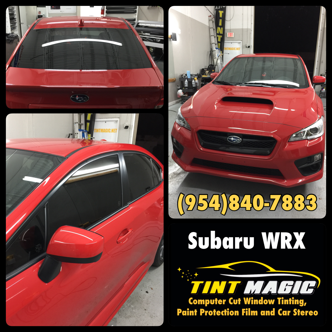 Subaru WRX at Tint Magic Window Tinting Coral Springs